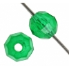Facetted Bead 6mm Green X'mas
